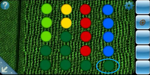 Правильная расстановка цветов, в конце поставьте синий цвет, чтобы открыть