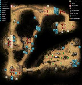 Карта лагерь Аткинсонов