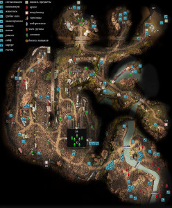 карта лагерь рельсовых кочевников