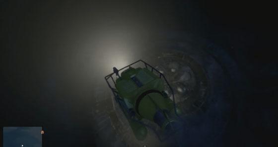 Летающая тарелка под водой