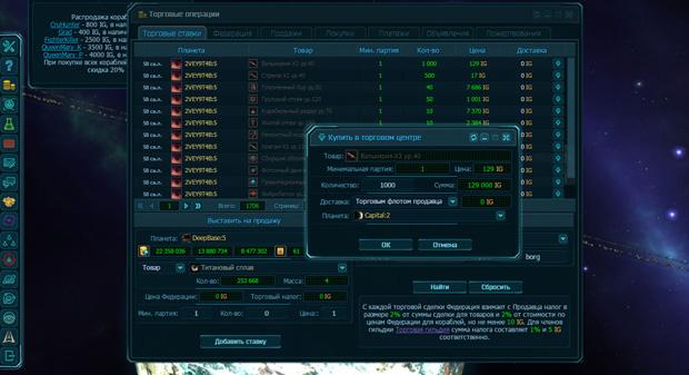 Торговые операции в игре